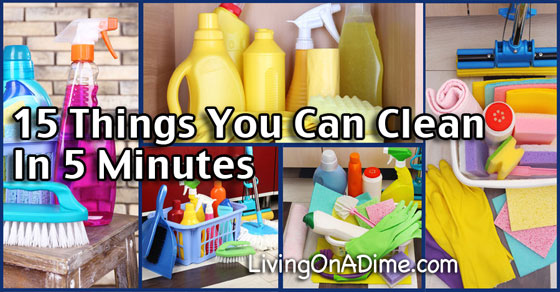15 Things You Can Clean In 5 Minutes In the Kitchen