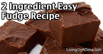 2 Ingredient Easy Fudge Recipe