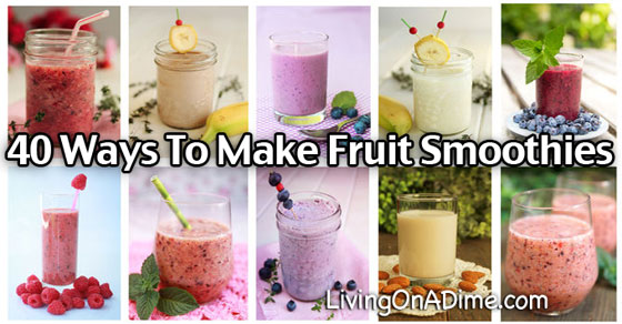 Homemade Fruit Smoothies Recipe And Extras