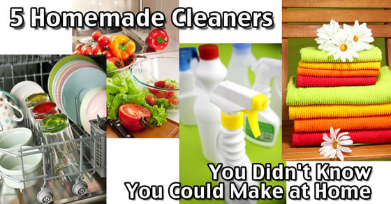 5 Homemade Cleaners You Didn't Know You Could Make at Home