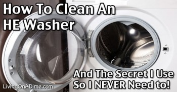 How To Clean A Front Load Washer And The Secret Trick I Use So I Never Need To!