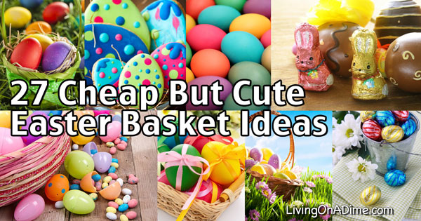 27 cheap but cute homemade easter basket ideas negle Choice Image