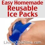 Easy Homemade Reusable Ice Packs Recipe