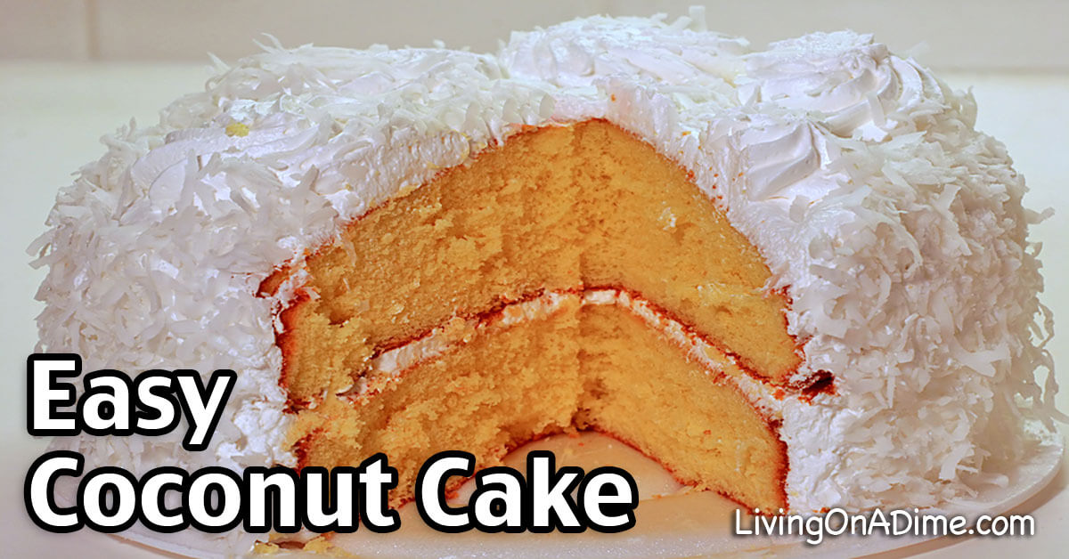Quick And Easy Coconut Cake