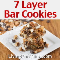 Yummy Homemade 7 Layer Bar Cookies Recipe