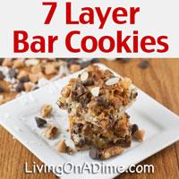 Yummy Homemade 7 Layer Bar Cookies Recipe