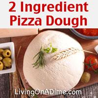 2 Ingredient Homemade Pizza Dough Recipe