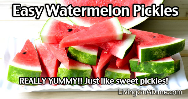Easy Watermelon Pickles Recipe