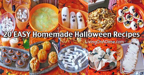 20 EASY Homemade Halloween Recipes