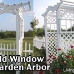 Garden Arbors Made From Recycling Old Windows