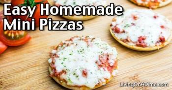 Easy Homemade Mini Pizzas Recipe