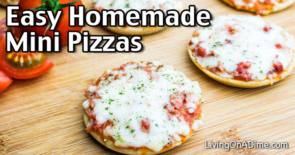 Easy Homemade Mini Pizzas Recipe