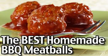 The BEST Homemade Barbecue Meatballs Recipe