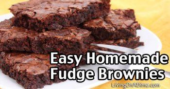 Easy 5 Ingredient Homemade Fudge Brownies Recipe