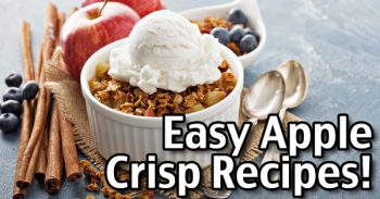 Easy Apple Crisp Recipes - Apple Crisp, Peach Cobbler And More!