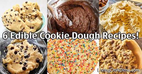 6 Edible Cookie Dough Recipes - Eggless Cookie Dough