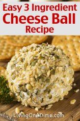 3 Ingredient Cheese Ball Recipe – David's Favorite Cheese Dip