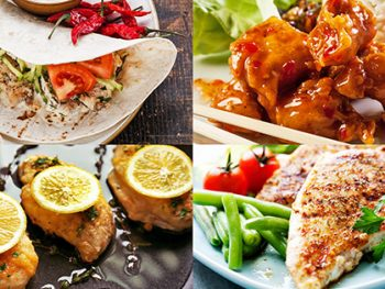 Here are 5 air fryer chicken breast recipes sure to please your family! They are healthy, versatile and easy to make with just a few minutes prep time! If you like the taste of juicy chicken, but without frying it in oil, you'll love these tasty air fryer chicken recipes!