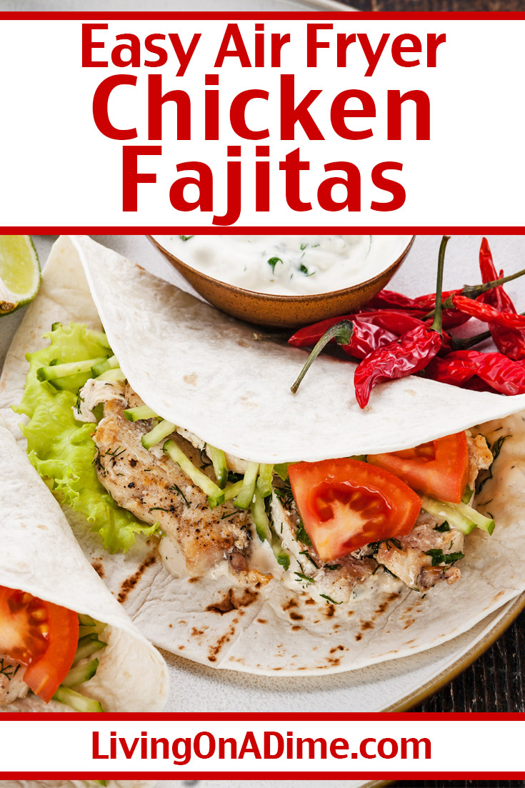 Who knew you could make quick and tasty chicken fajitas in an air fryer? This chicken fajitas recipe is one of our favorite air fryer chicken breast recipes because the chicken turns out perfect and it's so much easier than cooking chicken fajitas in a frying pan!