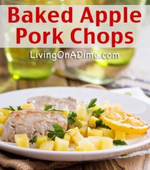 Baked Apple Pork Chops Recipe – Cinnamon Roll Bread Pudding