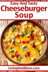 Cheeseburger Soup Recipe