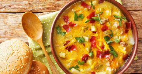 This easy cheeseburger soup recipe is a hearty soup and a classic American favorite that your family is sure to love! Perfect for families with picky eaters and hearty appetites, your family will not go away hungry!