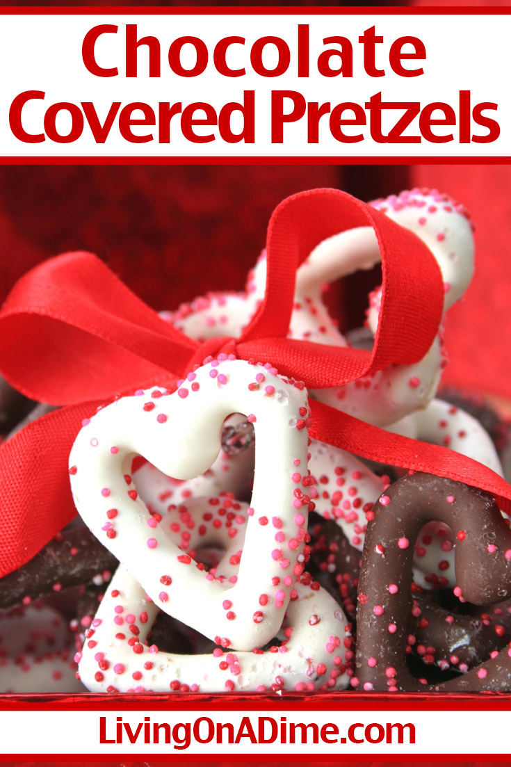 This easy chocolate covered pretzels recipe makes a wonderful salty and sweet Valentine's Day treat for the special Valentines in your life! You can use white, milk or dark chocolate and sprinkle with Valentine colored candy sprinkles! This recipe is a great way to get candy shop quality, starting with just 2 ingredients! Get this and more Valentine's Day candy recipes here!