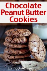 Easy Chocolate Peanut Butter Cookies Recipe – Great Gift in a Jar!