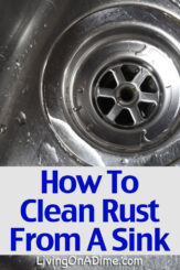 Here are a few things to try to remove rust stains from stainless steel