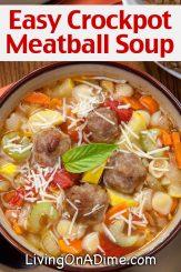 Crockpot Meatball Soup Recipe