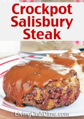 This Crockpot Salisbury Steak Recipe makes a delicious comfort food your family will love! You'll also find an easy meal including a yummy Soft Chocolate Chip Cookies dessert!
