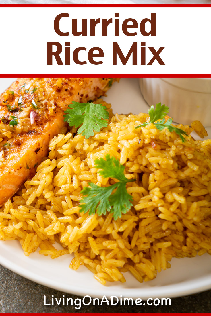 This curried rice mix recipe makes an easy gift mix! It makes a tasty rice that goes well with lots of chicken dishes.