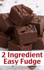This fudge recipe is one of my favorite 2 ingredient Christmas candies! Who knew rich, creamy chocolate fudge could be so dreamy! Bring this to a family get-together or holiday party and they will think you worked all day perfecting it! (Or just make it for yourself and hide it from the kids! lol) Find this and lots more easy 2 ingredient Christmas candy recipes here!