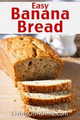 Easy Banana Bread Recipe – How To Make Moist Banana Bread
