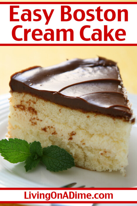 This easy Boston Cream Cake Recipe recipe gives the yummy flavor of Boston Cream Pie without all the mess and fuss of making Boston Cream Cake. It is as simple as baking a cake and frosting it.