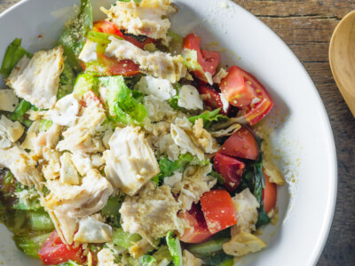 This easy chicken salad recipe makes a cool and delicious summer meal! Especially good if you need something to make the day before and serve!