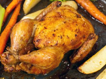 This easy cornish hen recipe is super simple to make and a lot faster to cook than a turkey or chicken. One Cornish hen makes a perfect meal for 2 people!