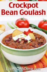Crockpot Bean Goulash Recipe