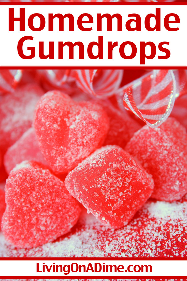 This easy gumdrops recipe makes tasty homemade jelly candies in your choice of flavors! Get this and more Valentine's Day candy recipes and treats here!