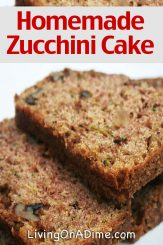 Easy Zucchini Recipes – Homemade Zucchini Cake Recipe