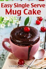 Quick and Easy Single Serve Mug Cake Recipe