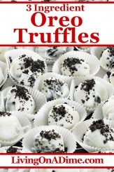 This easy 3 ingredient Oreo truffles recipe is a tasty Christmas candy recipe with the taste of Oreos that are heavy on the cream! Find this and lots more easy Christmas candy recipes with 3 ingredients or less here!