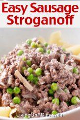 Sausage Stroganoff Recipe