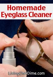 Homemade Eyeglass Cleaner Recipe