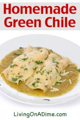 Homemade Green Chile