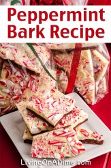 Peppermint bark is another Christmas candy recipe that is super tasty and easy to make, starting with just 2-3 ingredients! This is one of those Christmas candies that is easy to adapt to your mood and your guests! You can also easily make tasty variations with almonds, chocolate, peanut butter and more!