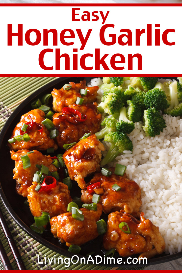 This easy honey garlic chicken recipe is a super yummy and easy to make Chinese chicken dinner recipe you can make in 10-15 minutes!