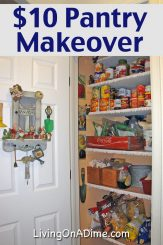 Inexpensive $10 Pantry Makeover