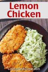 Easy Pan Fried Lemon Chicken Recipe