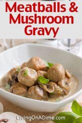 Meatballs With Mushroom Gravy Recipe